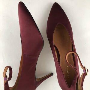NEW🌟HALOGEN Satin ankle strap pumps